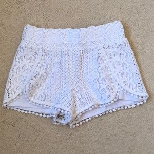Girls Design History White Crochet Shorts 5